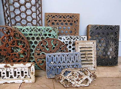 Antique / Vintage Cast Iron Grates, Grills, etc.