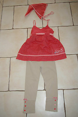 Ensemble legging + tunique + fichu SERGENT MAJOR en 5 ans