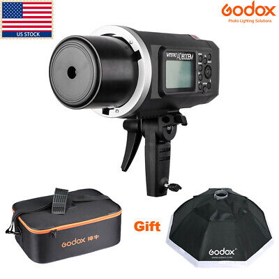 US Godox AD600BM 600W HSS 1/8000s 2.4G Outdoor Studio Flash Light+ Case+ Softbox