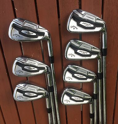 """Callaway Apex Pro 16 Forged Irons 4-PW Project X 6.0 Shafts 3/4"""" Longer R/H"""