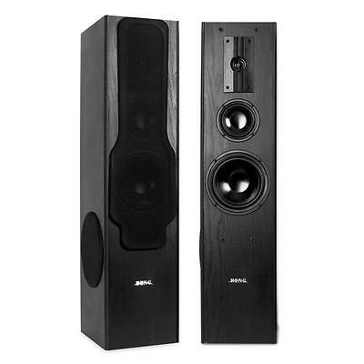 Beng 360W Rms Floor Standing Hifi Stereo Speakers 3-Way Side Firing Subwoofer