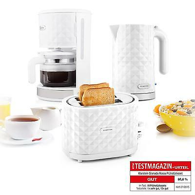 Kitchen Breakfast Set 2 Slot Toaster Electric Kettle Filtered Coffee Machine