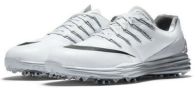 NEW! $170 Nike Lunar Control 4 Men's Golf Shoes White, Grey, & Black Size 13