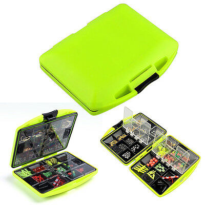 Fishing Tool  Lure Bait Hook Tackle Box Storage Case With 24 Compartments new #