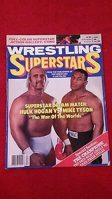 Wrestling Superstars Magazine Fall 1988 Hogan And Tyson Front Cover.
