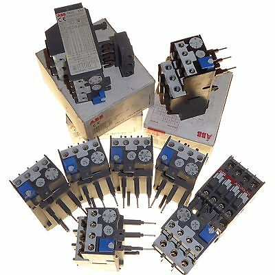 10 x Adjustable thermal overload relay & contactor ABB TA25 joblot various