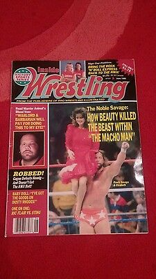 Inside Wrestling Magazine June 1988 Savage And Liz Front Cover.