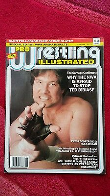 Pwi Wrestling Magazine June 1984 Ted Dibiase Front Cover.