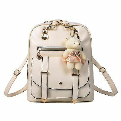 Women's Leather Backpack Shoulder Bag Travel Handbag School Bag Rucksack Satchel