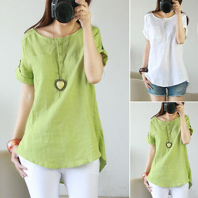 Fashion Women Summer Loose Tops Short Sleeve Blouse Ladies Casual Top T-Shirt