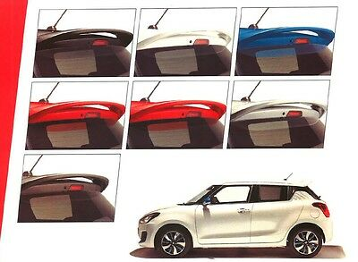 NEW Genuine Suzuki SWIFT 2017-> Rear Roof Spoiler CHOICE OF COLOUR 99110-53R00