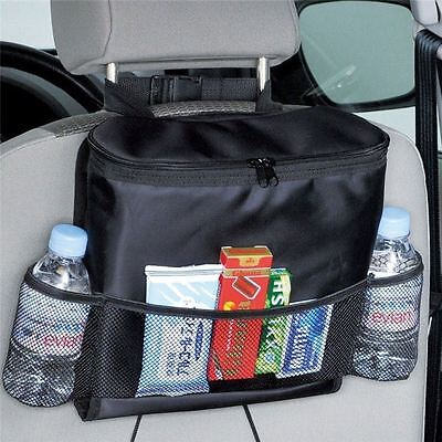Car Back Seat Organiser Tidy Hot / Cold Insulated Bag Tissue Drinks Holder