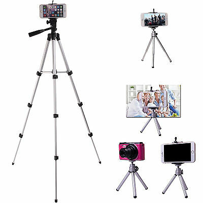 Professional Camera Tripod + Stand Holder +Bag For Smart Phone iPhone Samsung UK