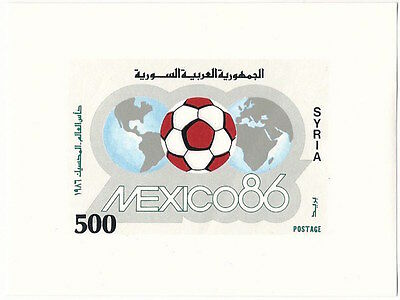 Syria #1061, MNH SS, 1986 - World Cup Soccer Championships, Mexico
