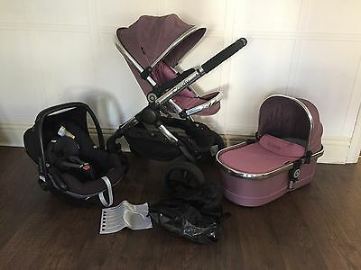 Icandy Peach 3 Marshmallow Complete System With Carry Cot And Car Seat
