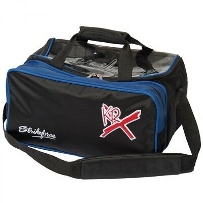 KR Bowling bag Royal Flush 2 Ball Bag with Shoe compartment blue