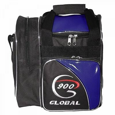 900 Global Bowling Bag Fresh 1 Ball Bag with Shoe compartment Black/Blue