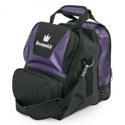 Brunswick ick Bowling Bag Crown 1 Ball Single Tote bag Purple Deluxe
