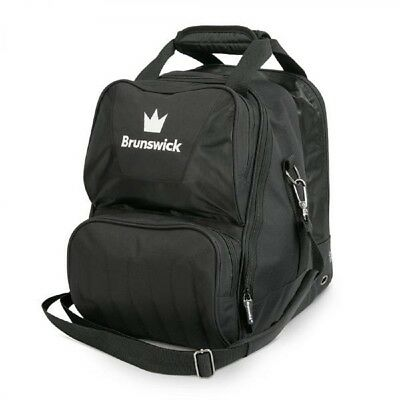 Brunswick ick Bowling Bag Crown 1 Ball Single Tote bag Black Deluxe