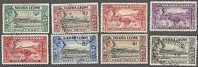 Sierra Leone #173...182, used and unused -1938- King George VI