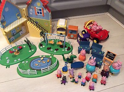 Peppa Pig Toy Bundle Playground, Campervan, House, School, Car, Figures