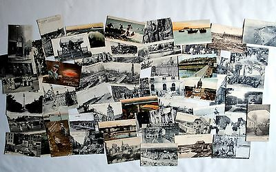 WWI: 55 x postcards home from same soldier. Western Front. Royal Engineers. WW1.