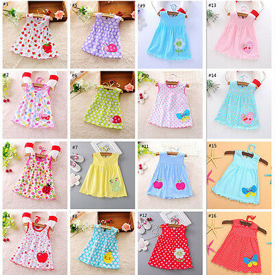 Baby Girls Dress Toddler Princess Party Tutu Summer Floral Dress Cute Nice