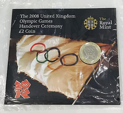 2008 Royal Mint £2 COIN Olympic Handover TWO POUNDS BRILLIANT UNCIRCULATED PACK
