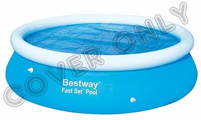 Bestway 10' ft Round Solar Swimming Paddling Pool Cover Sheet for Fast Set Pool