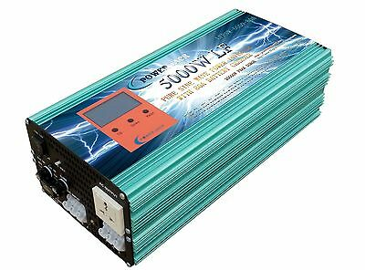 5000W LF PSW DC 24V to AC 240V Power Inverter with 80A Battery charger/UPS/LCD-1