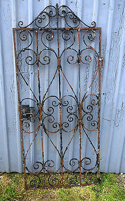 Vintage Scrolled Iron work Garden Gate