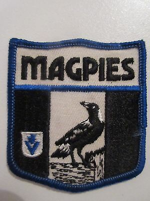 Vintage Vfl Cloth Sew On Badge The Magpies Collingwood Afl Footy
