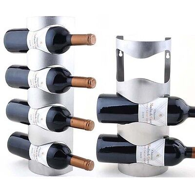 Excellent Mounted 3/4 Bottle Houseware Metal Bar Wall Wine Holder Storage Rack