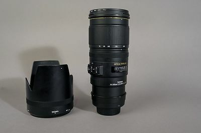 SIGMA 70-200mm 1:2.8 EX DG HSM OS LENS FOR NIKON - 70-200 mm f/2.8