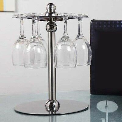 Flexible Bronze Straight Linear Wine Rack Tabletop Disassemble Wine Glass Holder