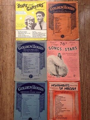 Music song books / sheets job lot of 12