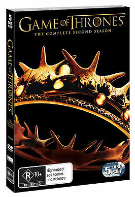 Game Of Thrones - Series 2 - Complete (DVD, 5-Disc Set, Box Set) NEW SEALED