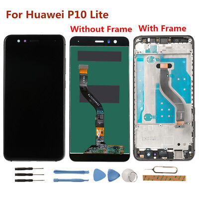 Huawei P10 Lite LCD Display Touch Screen Digitizer WAS-LX2JWAS-LX1A+Frame