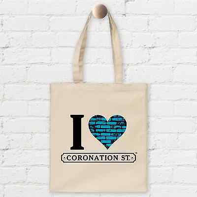 OFFICIAL I Heart Coronation Street Cotton Shopper Bag - Blue