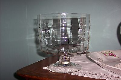 Clear Glass Footed Decorative Bowl Centerpiece -