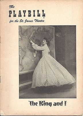 1952 Yul Brynner The King and I Original Playbill - Gertrude Lawrence