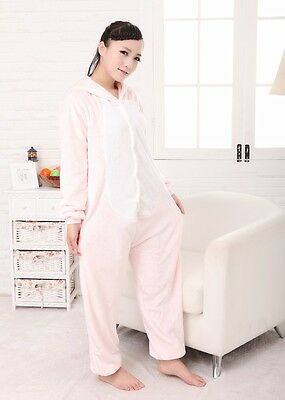 PINK PIG Unisex Adult Pajamas Kigurumi Cosplay Costume Animal Sleep tracksuit