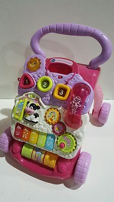 great cond   VTECH FIRST STEPS BABY WALKER LEARNING MUSICAL  TOY PINK
