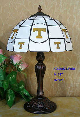 *ONLY 1* TIFFANY STAINED GLASS GEOMETRIC LEADLIGHT LOUNGE TABLE LAMP Home