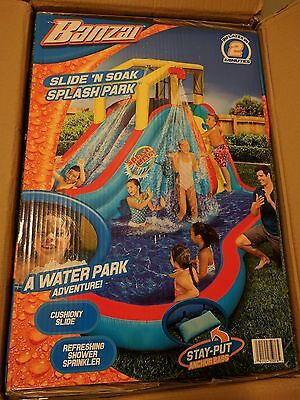 NEW IN-HAND Sealed Banzai Slide N Soak Splash Park - Inflatable - Ship or Pickup