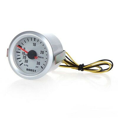 "Universal Auto Car Turbo Boost Vacuum Press Gauge Meter 2"" 52mm 0-30 PSI Y8A8"