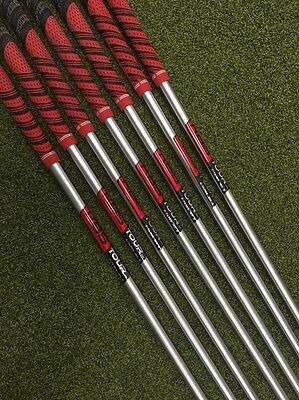 Pulled KBS C-Taper Tour 120 Stiff Flex Iron Shaft Set 4-PW +1/2 Inch Longer