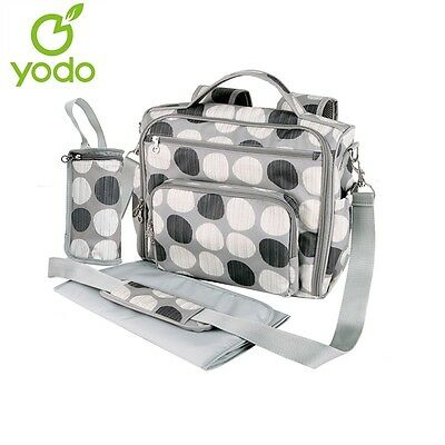 Yodo Partable Mommy Bag Women Backpack with Convertible Baby Backpack Diaper Bag