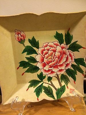 Hand Pained Japanese Or Chinese Tray