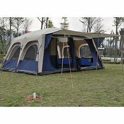 family Camping Large Outdoor tent 6-12 Person 3-Room High quality Waterproof ten